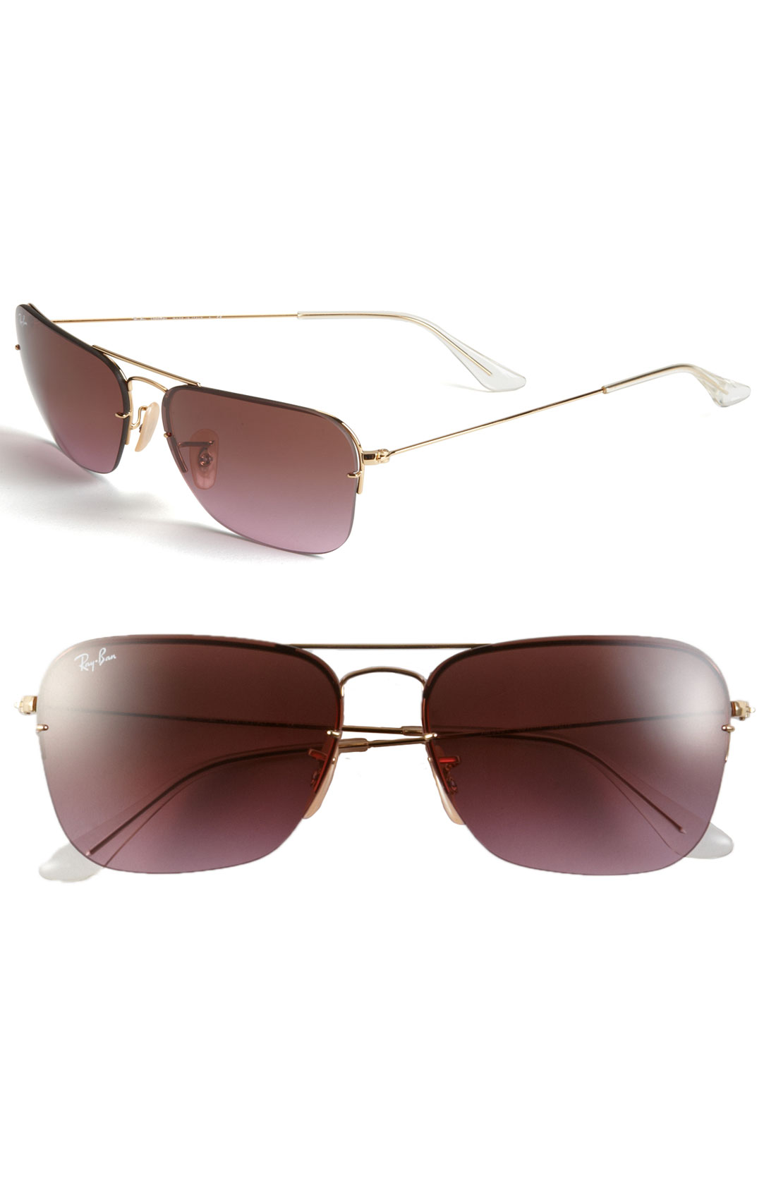 Rimless Aviator Sunglasses : Ray-ban Light Ray Rimless Aviator Sunglasses in Gold Lyst