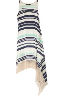 Elizabeth And James Adrienne Striped Silk Dress - Lyst