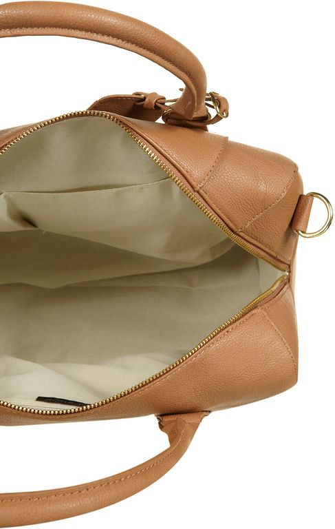 Topshop Bowling Bag in Brown tan