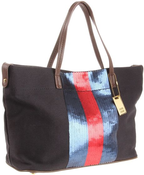 Tommy Hilfiger Th Sparkle Ew Tote in Multicolor (black) - Lyst