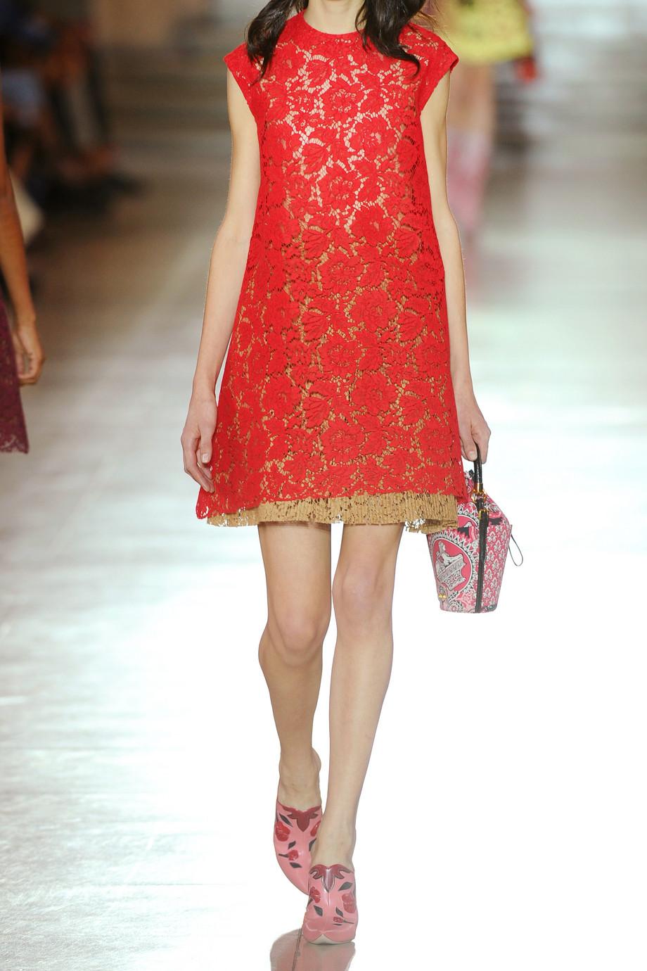 Floral lace dress Miu Miu 5brj3vp
