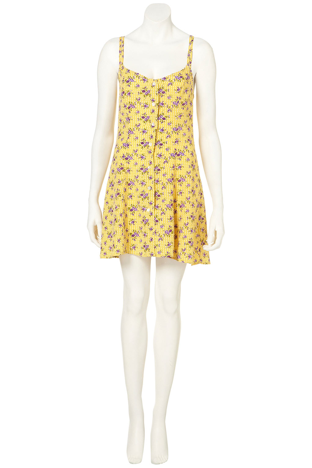 Lyst Topshop Flower Spot Strappy Sundress In Yellow