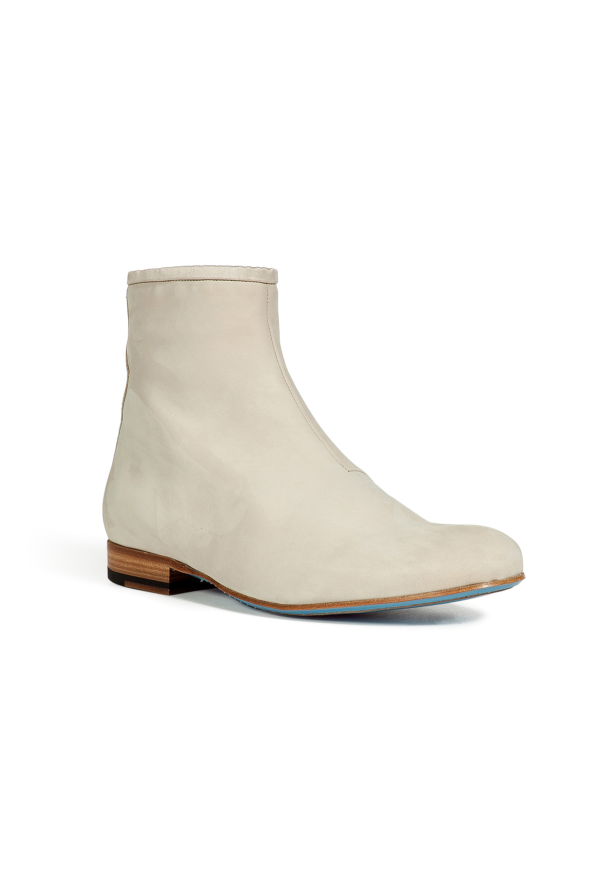 marc chalk suede chelsea boots in white for