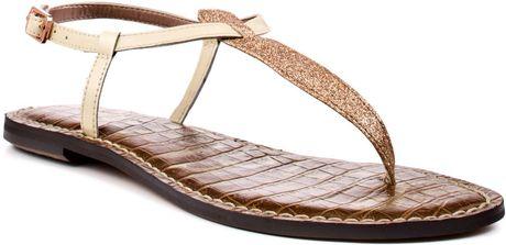 Sam Edelman Gigi Rose Gold Thong Flat Sandal In Pink