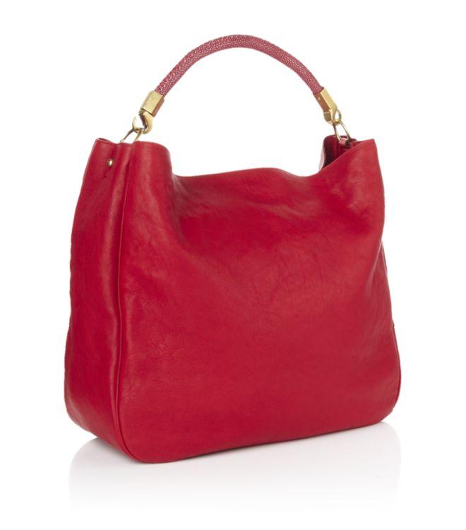 Saint laurent Roady Hobo Bag in Red | Lyst