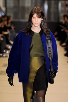 Balenciaga Fall 2012 Blue Baggy Jacket With Wide Sleeves - Lyst