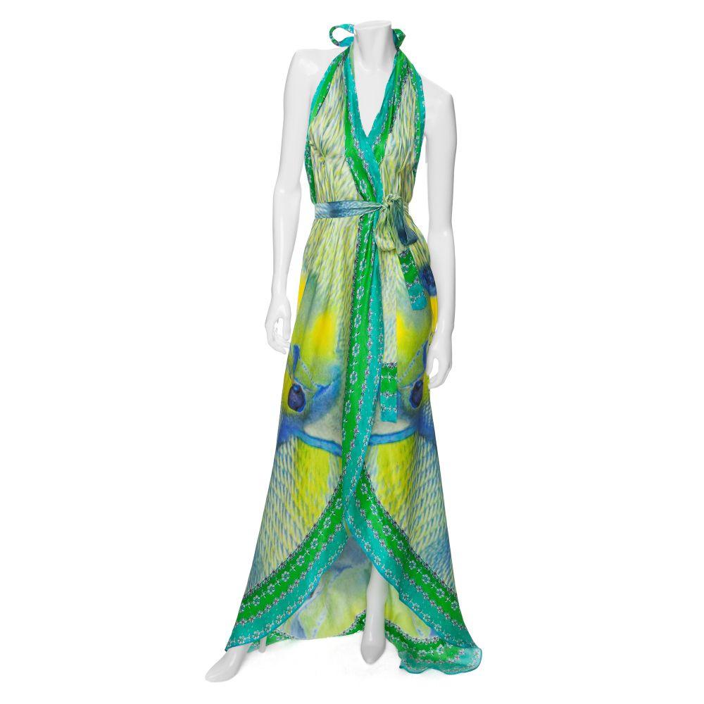 Printed silk wrap dress Camilla twhogFfQx