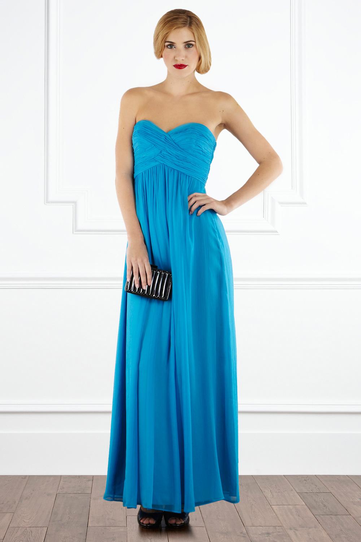 Lyst Coast Tamara Maxi Dress In Blue