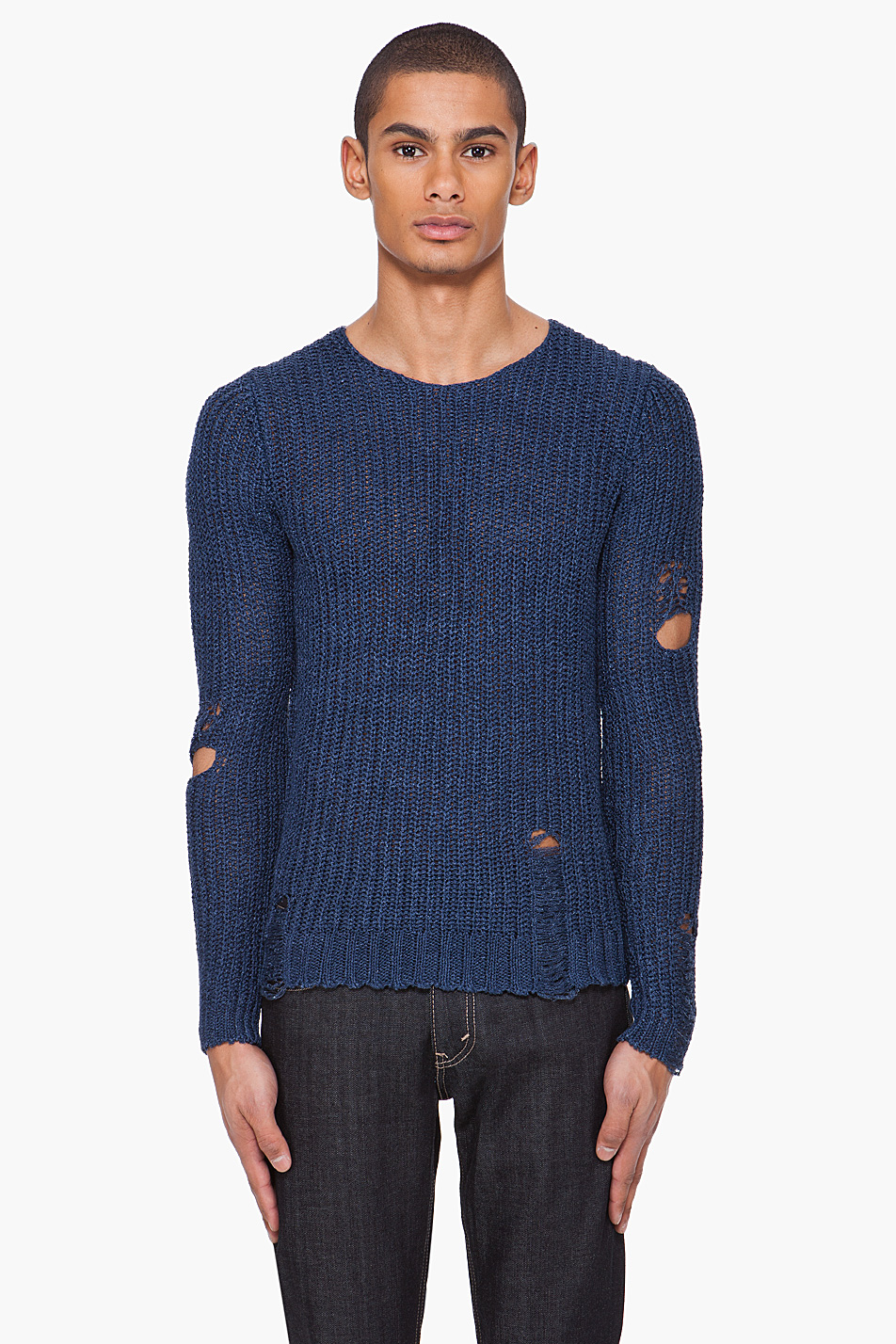 Diesel black gold Navy Kim3-deep Sweater in Blue for Men | Lyst