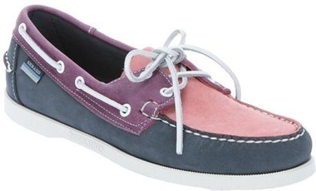 sebago spinnaker deck shoe in pink for lyst