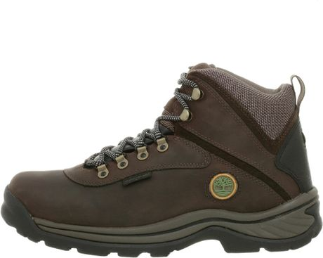 timberland mens white ledge boot in brown for lyst