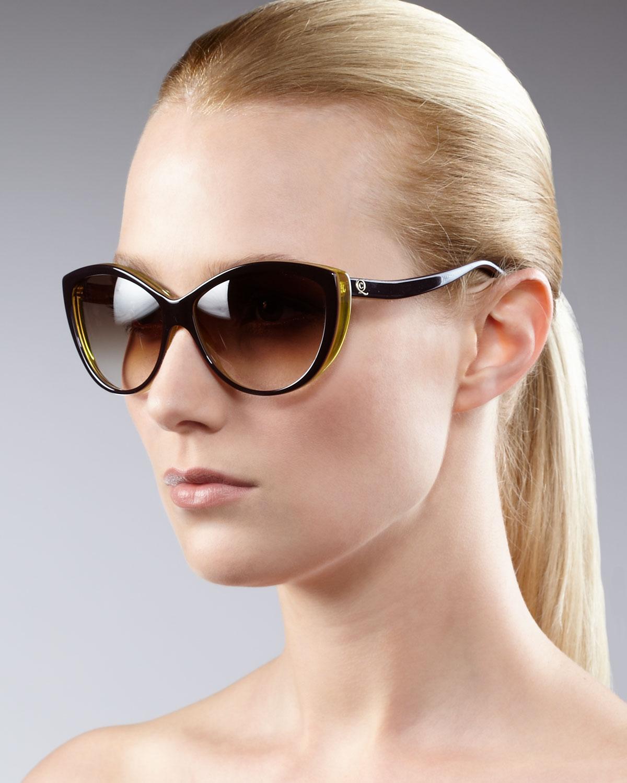 344b3622f6 Lyst - Alexander McQueen Cat-eye Sunglasses