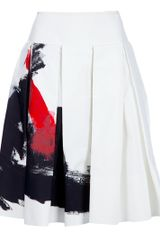 Donna Karan New York Printed Skirt