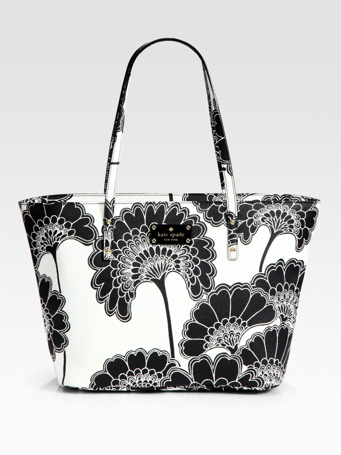 Lyst Kate Spade New York Harmony Fl Vinyl Tote Bag In Black