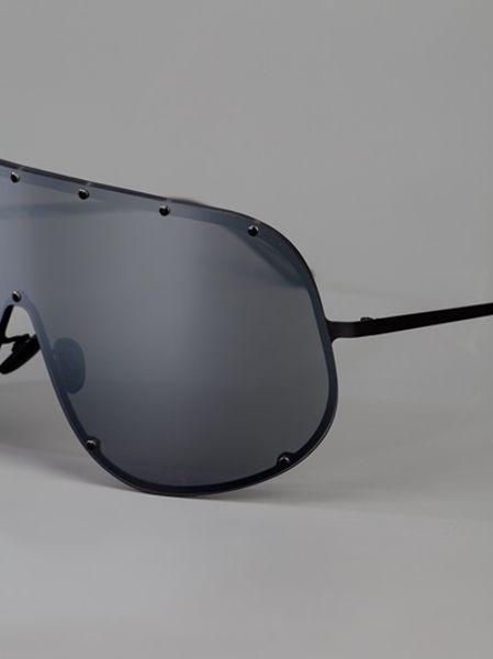98ed033a15d Rick Owens Visor Sunglasses in Black for Men