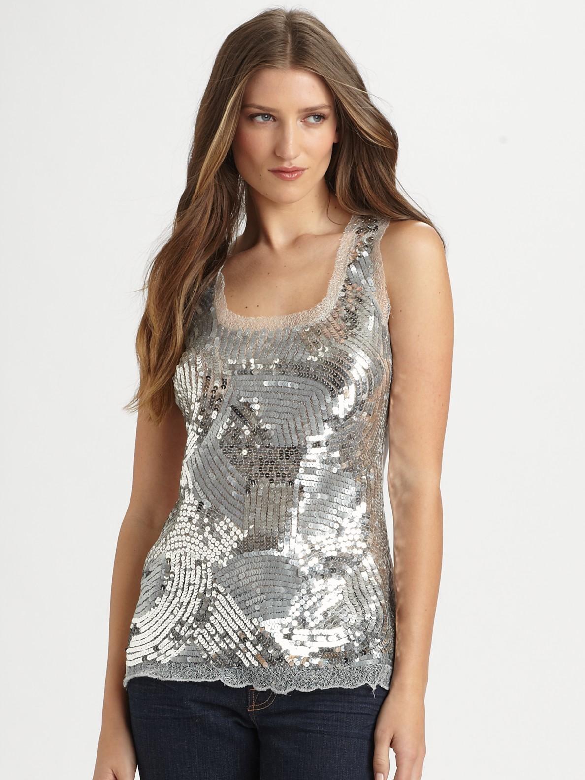 Silver Sequin Blouse