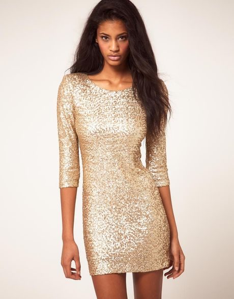Tfnc Tfnc Sequin Dress with Long - 40.1KB