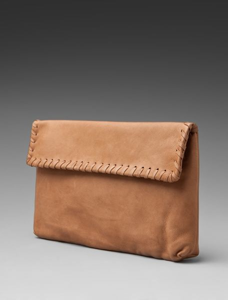 Graham & Spencer Clutch in Brown (tobacco) - Lyst