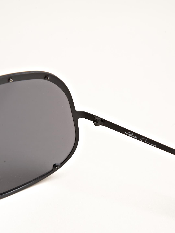 cdfc883613d Rick owens Oversized Black Sunglasses in Black for Men