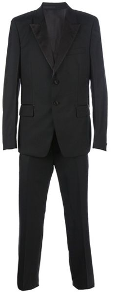 Yves Saint Laurent Two Button Suit in Black for Men - Lyst