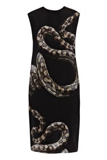 Lanvin Snake-print Dress - Lyst