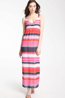 Vince Camuto Watercolor Stripe Maxi Dress - Lyst