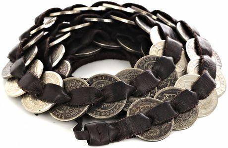 Isabel Marant Daloa Coin Belt in Brown (silver)