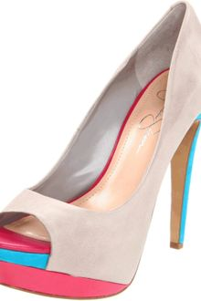 Jessica Simpson Womens Sheri Open Toe Pump - Lyst