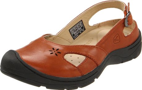 Keen Womens Paradise Slip On Shoe in Brown (bombay brown