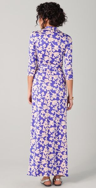 Dvf Abigail Dress Abigail Wrap Maxi Dress in