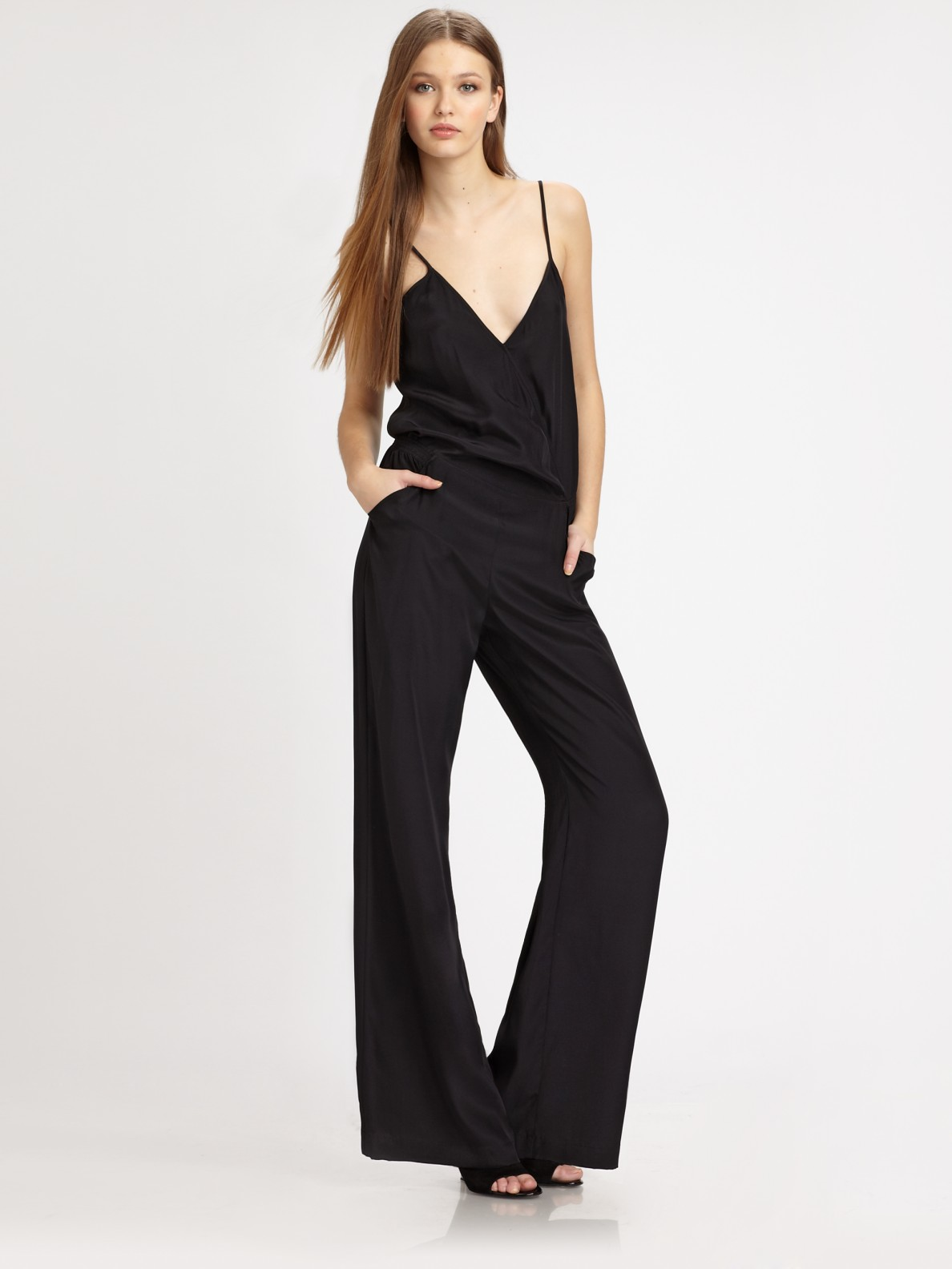 Parker Long Jumpsuit in Black | Lyst