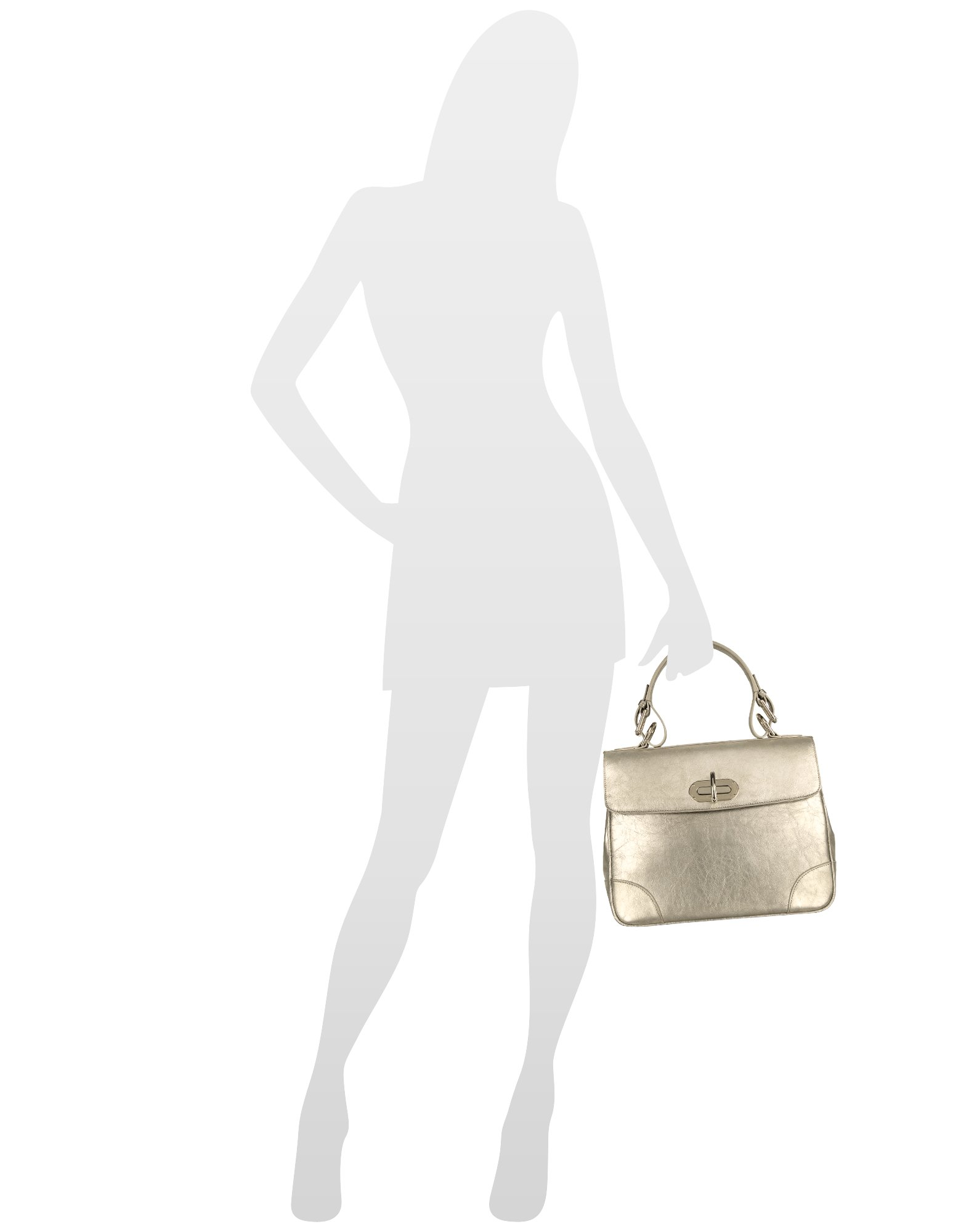 d0de754e05d5 Lyst - Ralph Lauren Collection Small Tiffin - Silver Leather Bag in ...
