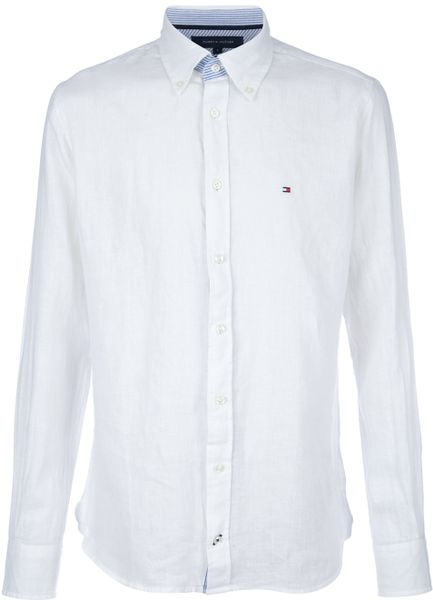 Tommy Hilfiger Classic Linen Shirt in White for Men | Lyst