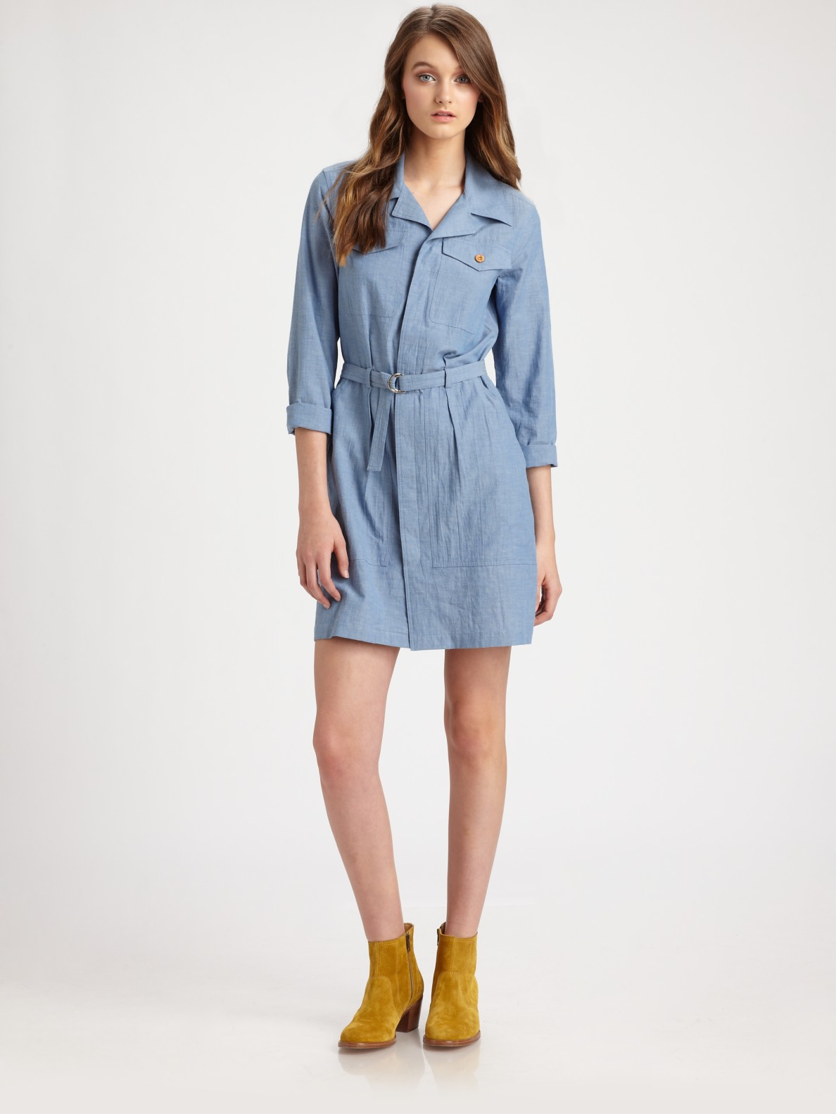 Blue Jean Shirt Dress