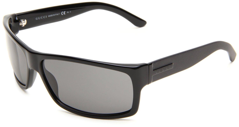 Gucci Frames For Mens Glasses : Gucci Mens S Wrap Sunglasses in Black for Men (black frame ...