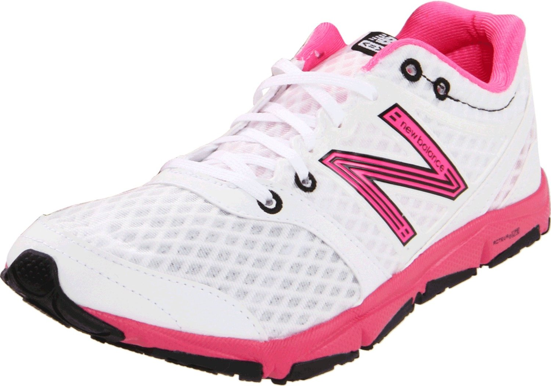 new balance womens w730 running shoe in white white pink