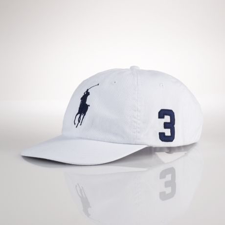 polo ralph lauren big pony chino cap in white for men. Black Bedroom Furniture Sets. Home Design Ideas