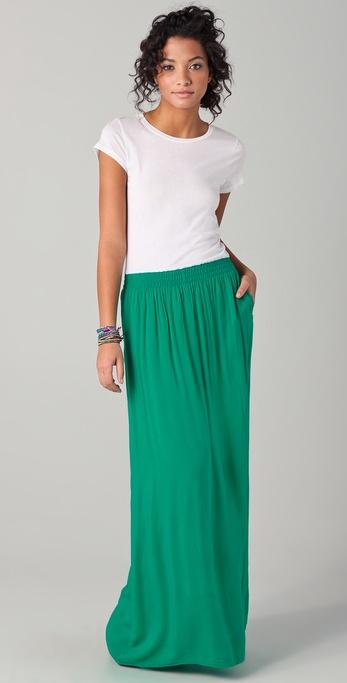 Splendid Tee Maxi Dress in Green | Lyst