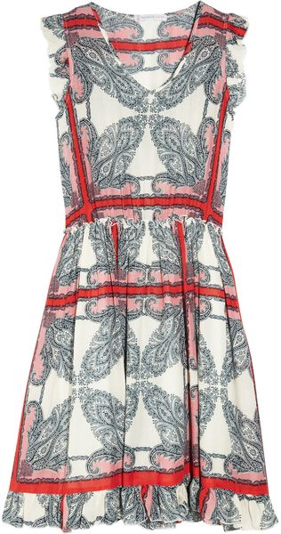 Paul & Joe Sister Karla Paisley-print Voile Dress - Lyst
