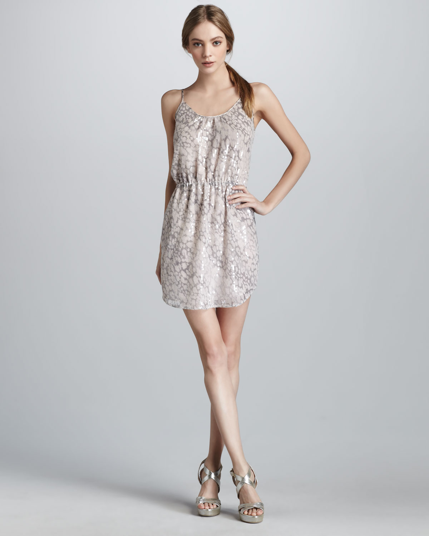 99e4369448a Lyst - Rebecca Taylor Sequined Leopard-print Dress