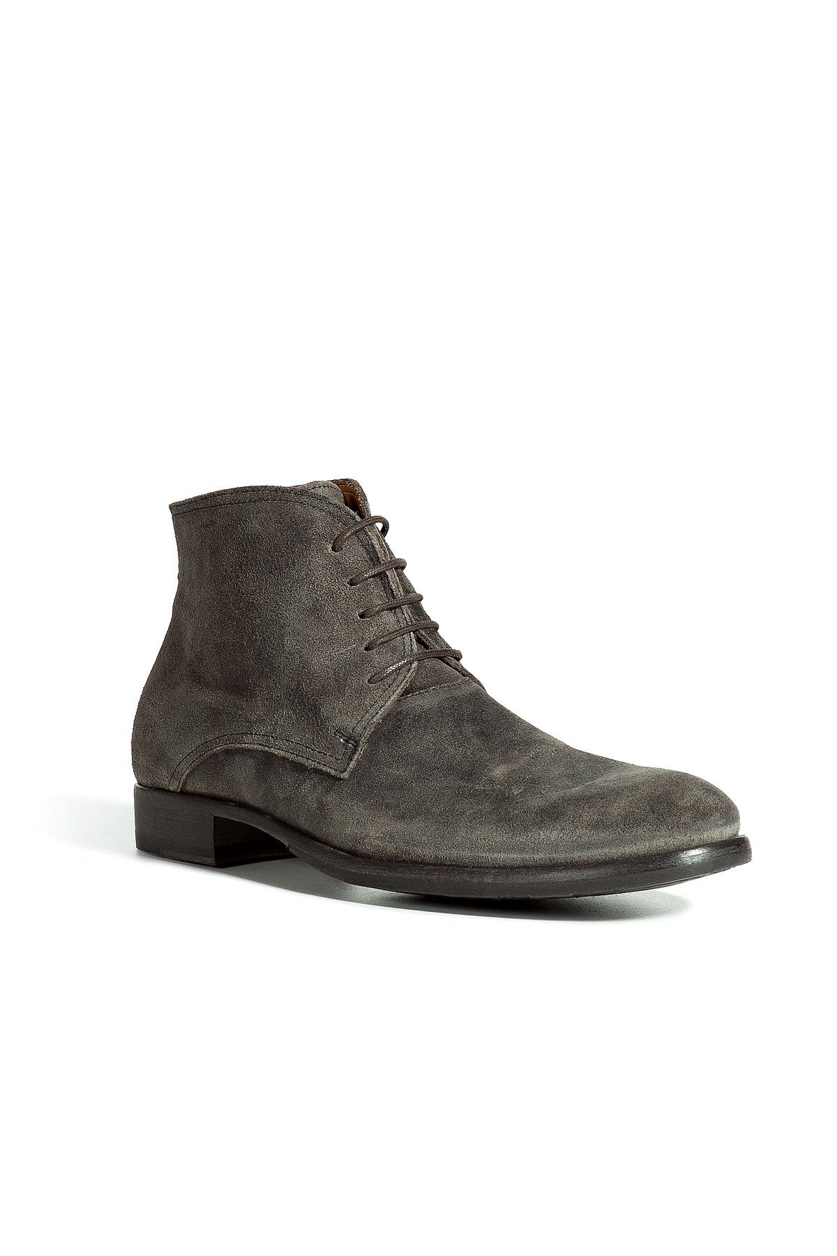fiorentini baker light lava suede lace up boots in gray