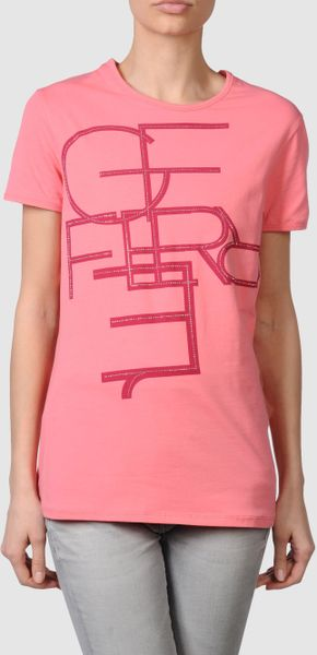 Gianfranco Ferré Gf Ferre - Short Sleeve T-shirts in Pink (lilac) - Lyst