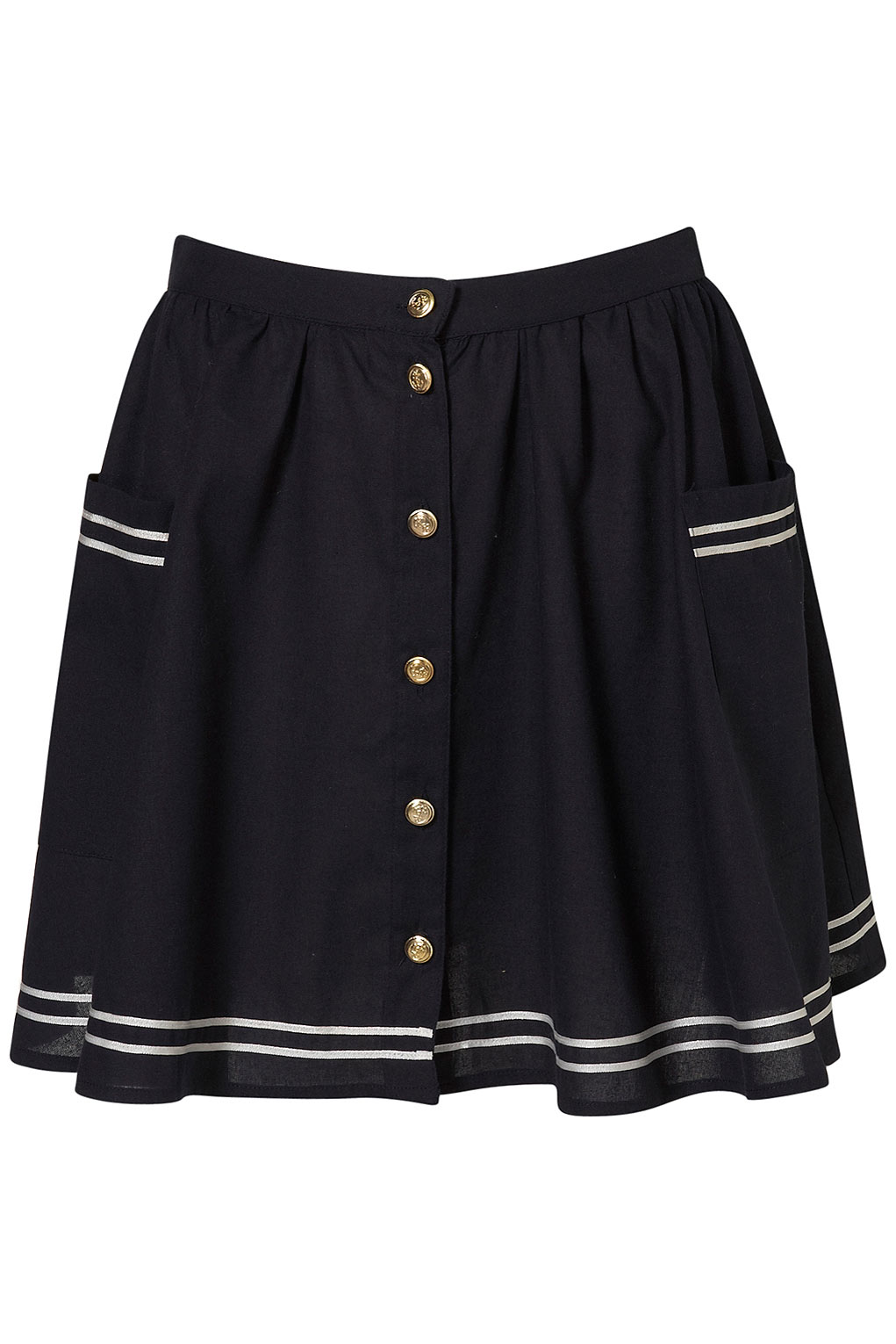 Lyst Topshop Sailor Skirt In Blue
