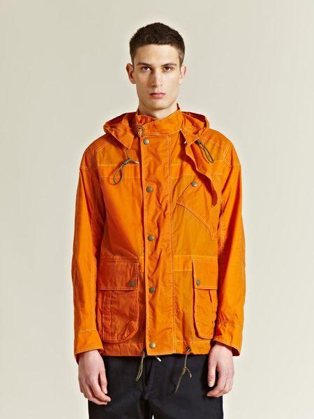 Nigel Cabourn Mens Wax Poplin Aircraft Jacket In Orange