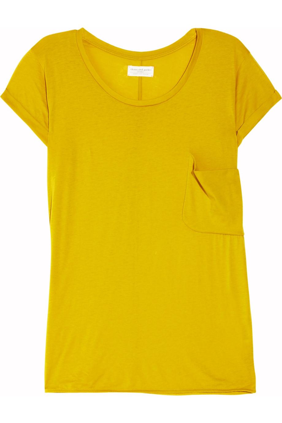 Chinti Parker Oversized Organic Cotton T Shirt In Yellow