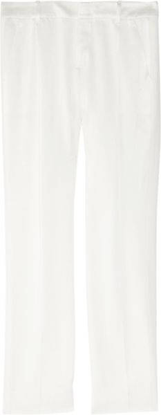 Gucci Mattesatin and Silkblend Pants in White (ivory) - Lyst