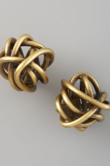 Kelly Wearstler Twisted Brass Earrings - Lyst