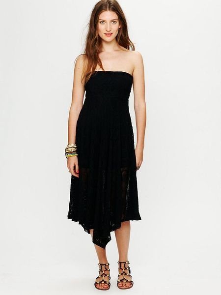 Free People Victorian Lace Tube Dress in Black - Lyst
