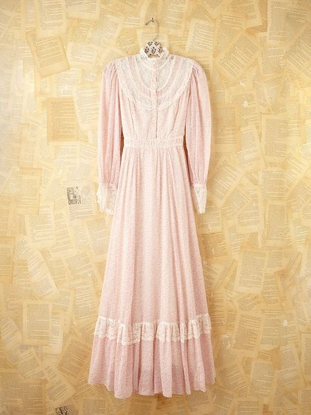 Free People Vintage Gunne Sax Dress In Pink Pink Rose