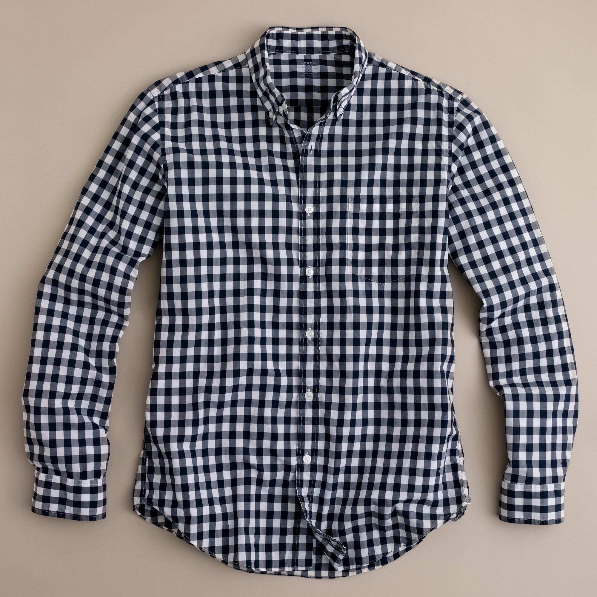 Lyst J Crew Slim Secret Wash Lightweight Shirt In Van